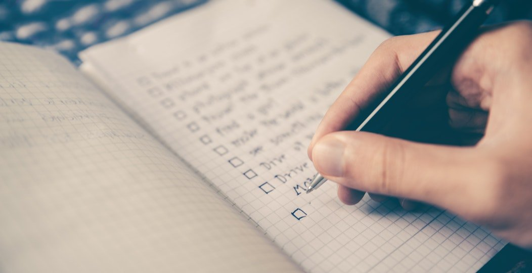 Creating a budget in a notebook planner